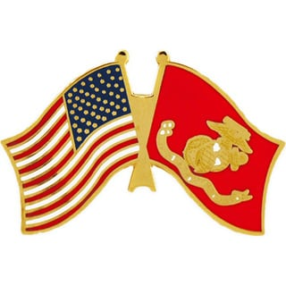 United States And Marine Corps Flag Pin