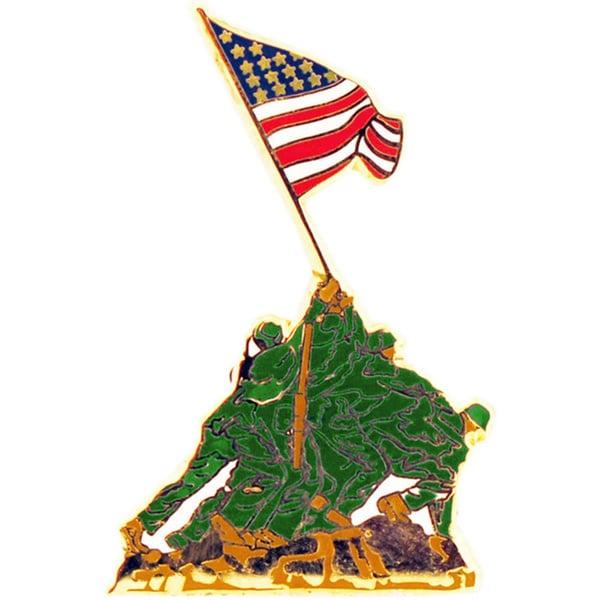 USMC Iwo Jima Flag Colored Pin