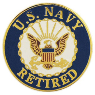 United States Navy Logo Retired Pin