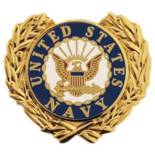 United States Navy Logo Wreath Pin