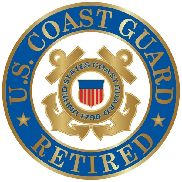 United States Coast Guard Logo Retired Pin