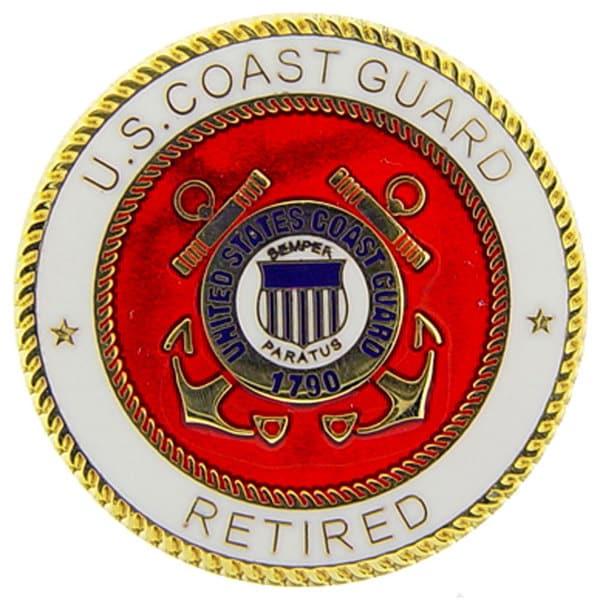 United States Coast Guard Logo Retired Pin Free Shipping