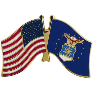 United States And Air Force Flag Pin