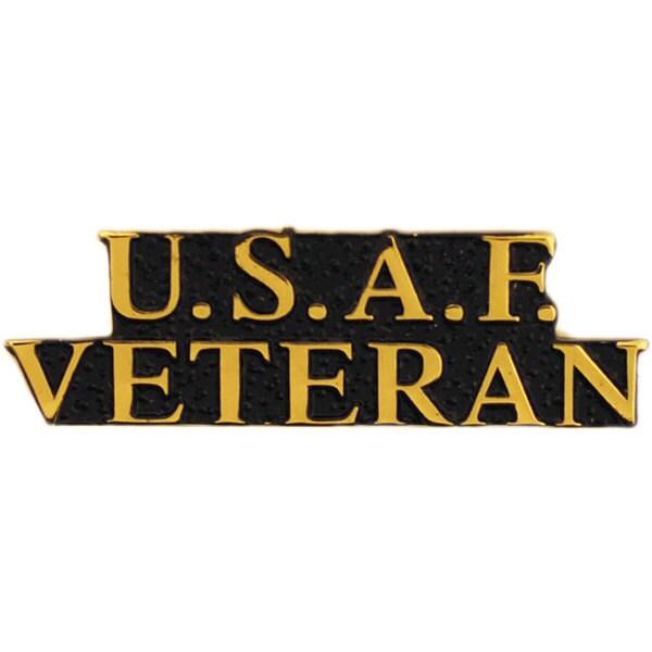 USAF Bold Faced Veteran Pin