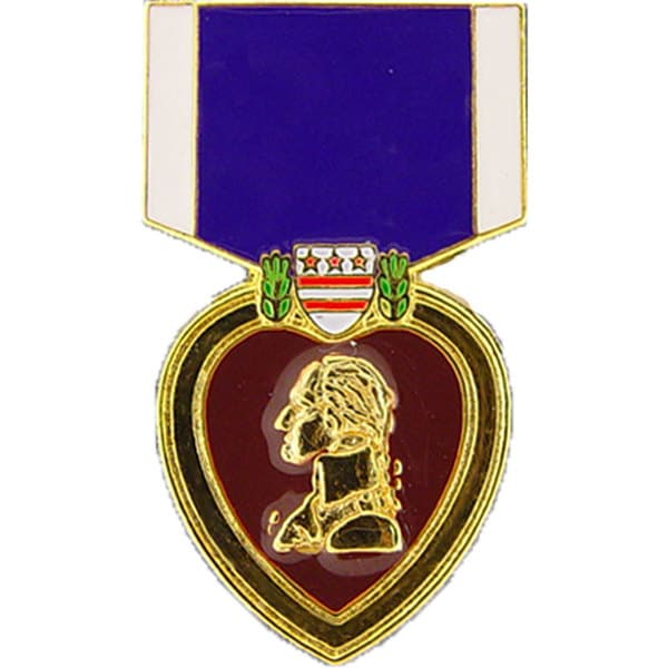 Purple Heart Medal Pin
