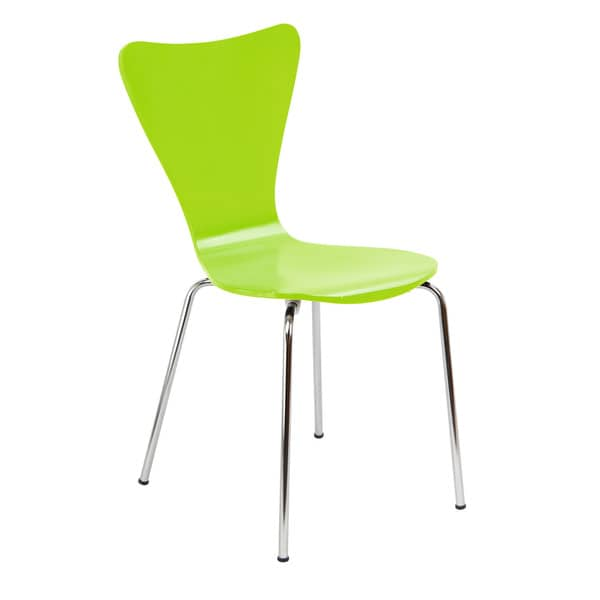 Legare Furniture Bent Ply Chair in Lime Green Finish 34 x