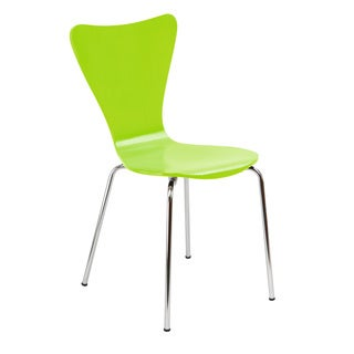 Legare Furniture Bent Ply Chair in Lime Green Finish, 34 x 17