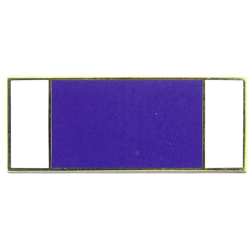 Purple Heart Ribbon Pin (Blue) (Metal)