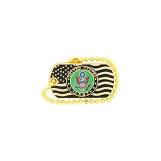 United States Army Logo With US Flag Pin