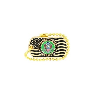 United States Army Logo With US Flag Pin (Option: Multi)