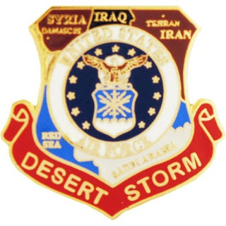 United States Air Force Desert Storm Map Pin