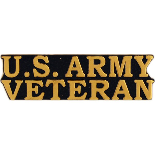 US Army Bold Faced Veteran Pin