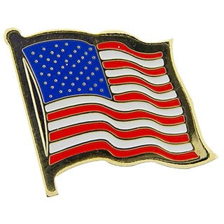 Wavy United States Flag Pin
