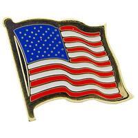 Wavy United States Flag Pin