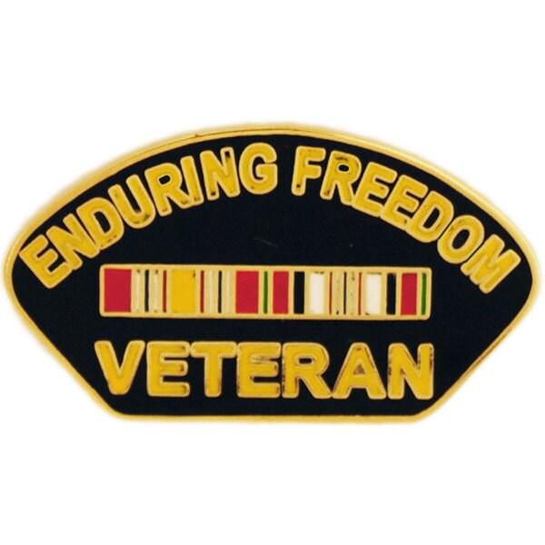 Enduring Freedom Veteran Pin With Ribbon