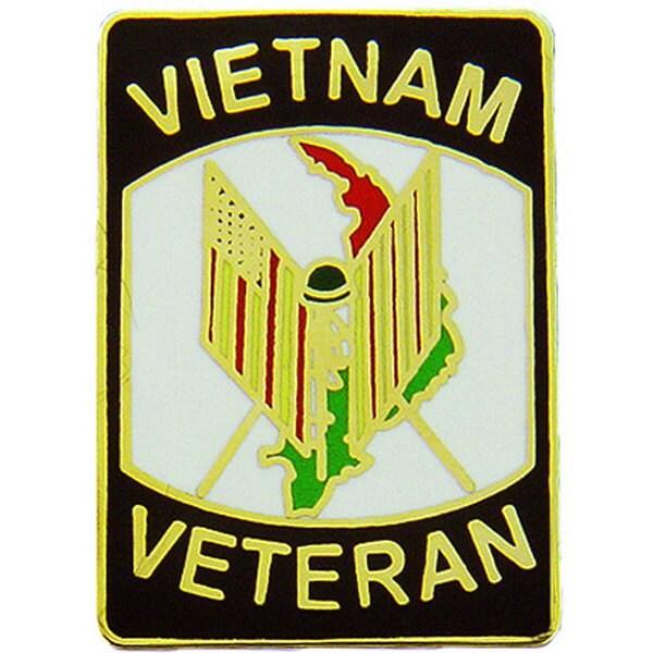 Vietnam Veteran Flags Pin