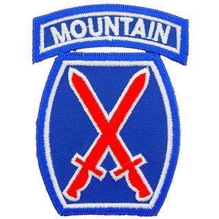 US Army 10th Mountain Division Patch