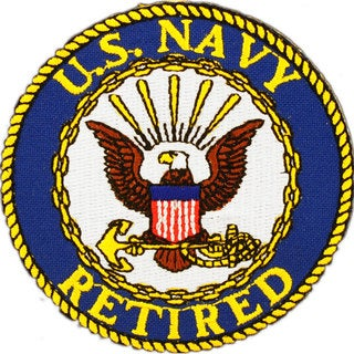 US Navy Retired Round Logo Patch
