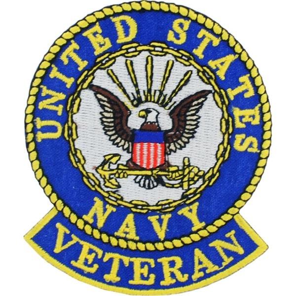 US Navy Veteran Round Logo Patch
