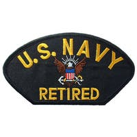 US Navy Retired Logo Patch