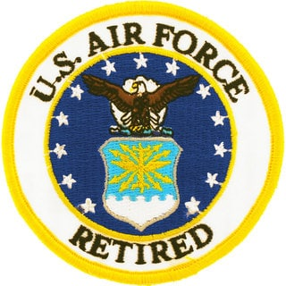 US Air Force Retired Logo Round Patch