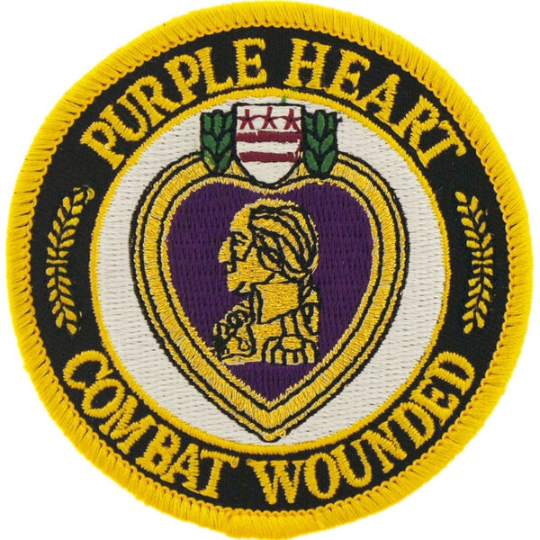 Purple Heart Combat Wounded Round Patch