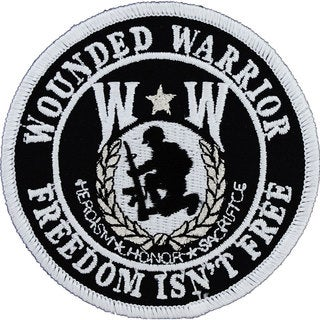 Wounded Warrior Shield Round Patch