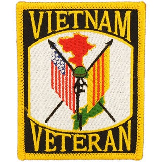 Vietnam Veteran Flags Patch