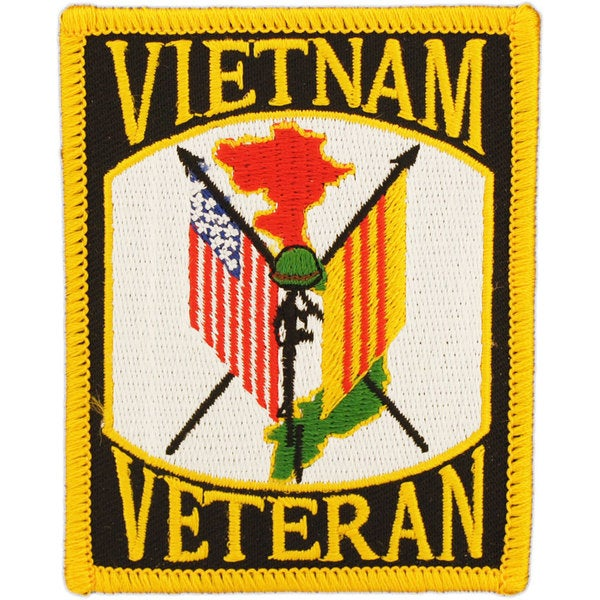 Vietnam Veteran Flags Patch