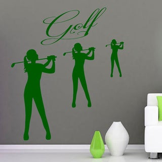 Golf Golfer Sticker Vinyl Wall Art