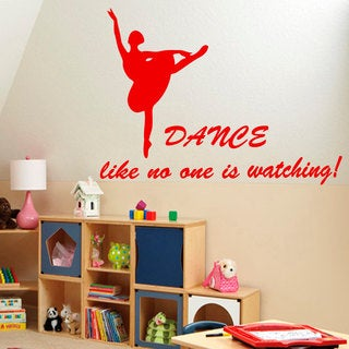Red Dancers Ballet Sticker Vinyl Wall Art