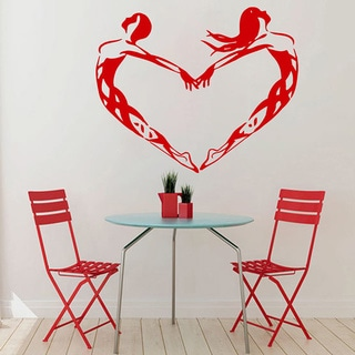Ballet Dancing Studio Sticker Vinyl Wall Art Red