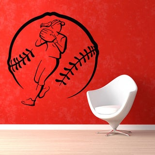 Baseball Softball Pitcher Sticker Vinyl Wall Art