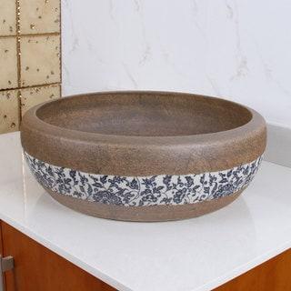 ELIMAX'S 2005 Sandstone Glaze Pattern Porcelain Ceramic Bathroom Vessel Sink