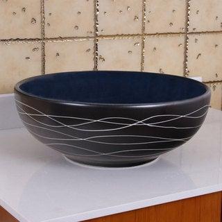 ELIMAX'S 2021 Sapphire Glaze Porcelain Ceramic Bathroom Vessel Sink