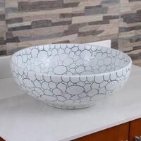 ELIMAX'S 2018 Cobblestone Pattern Porcelain Ceramic Bathroom Vessel Sink