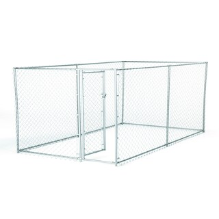 Lucky Dog 2-in-1 Galvanized Chain Link 4-foot Kennel