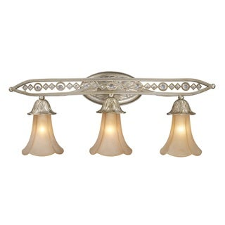 Chelsea Collection 3-light Vanity Light With Embedded Crystal