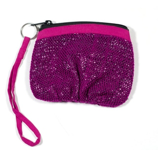 Purple Recycled Tape Wristlet (India)