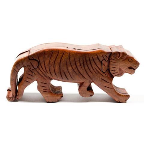 Handmade Tiger Puzzle Box (India)