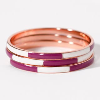 Purple Nautical Rose Gold Bracelets (India)
