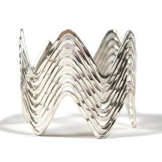 Handmade Silver Wave Cuff (India)