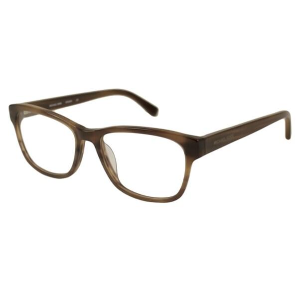 30b5a0554b8f2 Shop Michael Kors Men s MK829M Rectangular Optical Frames - Free ...