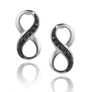 Journee Collection Sterling Silver Diamond Accent Infinity Earrings