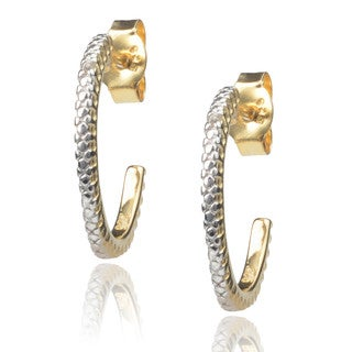 Journee Collection Sterling Silver Diamond Hoop Earrings