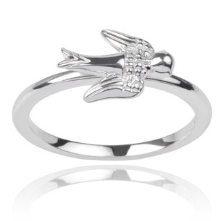 Journee Collection Sterling Silver Dove Emblem Ring