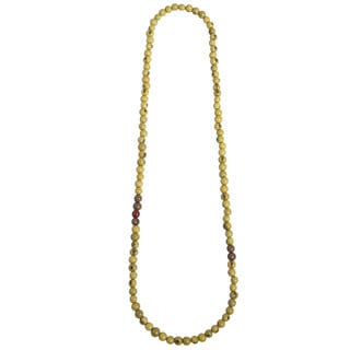 Faire Collection Tropical Acai Seed Necklace in Lime (Ecuador)