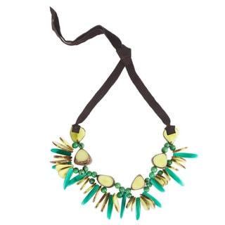 Faire Collection Rhumba Tagua Necklace in Lime (Ecuador)