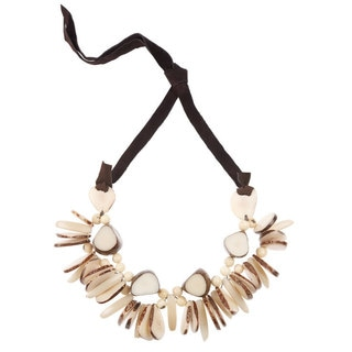 Faire Collection Rhumba Tagua Necklace in Cream (Ecuador)