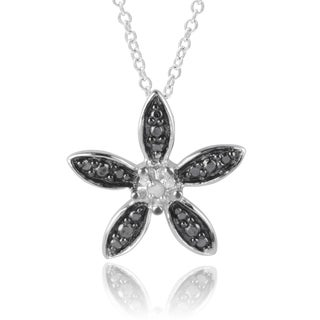 Journee Collection Sterling Silver Diamond Accent Flower Pendant